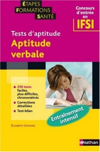 Tests d'aptitude : Aptitude verbale (Concours d'entrée en IFSI)