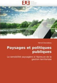 Paysages Et Politiques Publiques