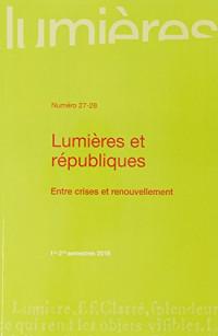 Lumières et républiques entre crises et renouvellement