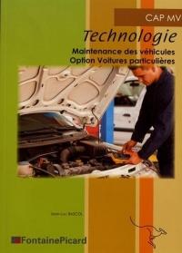 Technologie CAP MV : Maintenance des véhicules option voitures particulières
