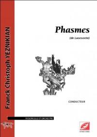 Phasmes (de Laocoonte), pour violoncelle et orchestre (conducteur)