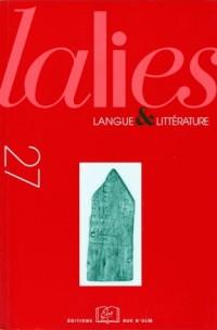 Lalies, N° 27 :