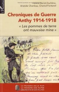 Chroniques de guerre Anthy 1914-1918 : Les pommes de terre ont mauvaise mine