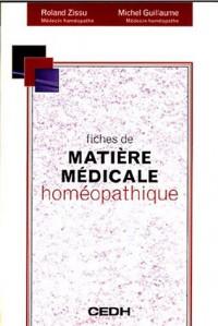 Fiches de matière médicale homéopathique