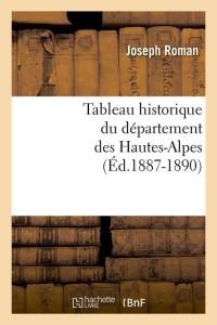 Tableau Dept des Hautes Alpes  ed 1887 1890