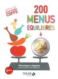 200 menus équilibrés à 2 euros
