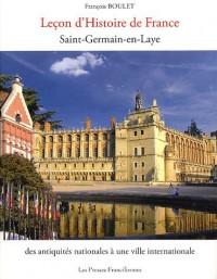Leçon d'histoire de France Saint-Germain-en-Laye : Des antiquités nationales à une ville internationale