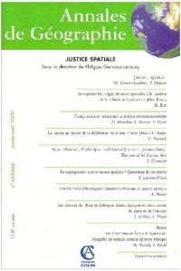 Annales de Géographie, N° 665-666, Janvier- : Justice spatiale