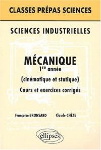 Sciences industrielles : Mécanique 1re année