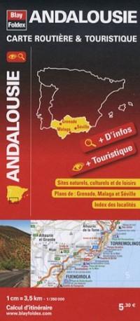 Andalousie, carte routière & touristique