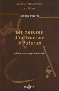 Les Mesures d'instruction in futurum, volume 34