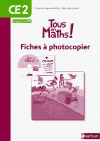 Tous en maths CE2 - fiche a photocopie (yc CD)