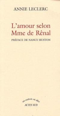 L'amour selon madame de Rênal