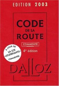 Code de la route 2003 (commenté)
