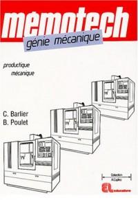 Génie mécanique : Productique mécanique