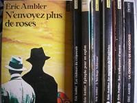 eric ambler - lot 7 livres : n'envoyez plus de roses - les visiteurs du crépuscule - epitaphe pour un espion - l'héritage schirmer - le masque de dimitrios - les trafiquants d'armes - la croisiere de