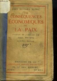 Les conséquences economiques de la paix