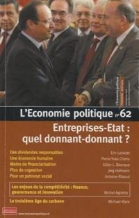 L'Economie politique, N° 62, avril 2014 : Entreprise-Etat : quel donnant-donnant ?