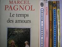 marcel pagnol - lot 6 livres : fabien - le temps des amours - la femme du boulanger - topaze - angele - marius
