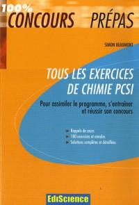 Tous les exercices de Chimie PCSI
