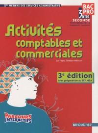 Activités comptables et commerciales 2nde professionnelle métiers des services administratifs