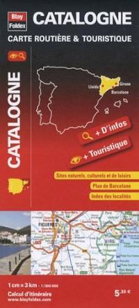 Catalogne, carte routière & touristique