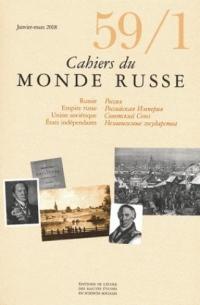 Cahiers du Monde Russe 59-1
