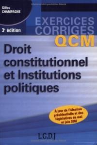 Droit constitutionnel et Institutions politiques : QCM