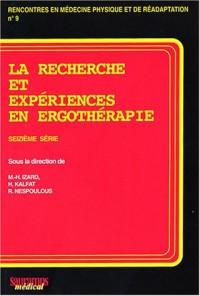 La recherche et expériences en ergothérapie