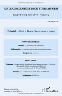 Revue Congolaise (N 2) de Droit et des Affaires Droit et Bonne Gouvernance