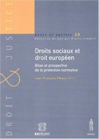Droits sociaux et droit européen. Bilan et prospective de la protection normative