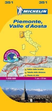 Michelin Map Italy: Piemonte, Valle D'aosta 351