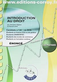 Introduction au droit - Énoncé: UE 1 du DCG