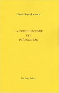 La poésie entière est préposition