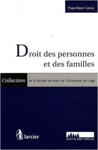 Droit des personnes et des familles : 2 volumes