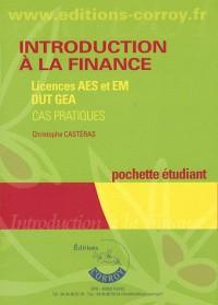 Introduction a la Finance - Pochette Eleve - Licences Aes Etem, Dut Gea