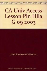 CA Univ Access Lesson Pln Hlla G 09 2003
