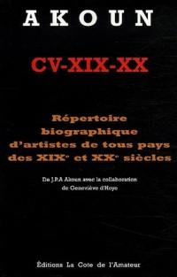 Répertoire biographique d'artistes de tous pays des XIXe et XXe siècles