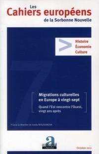 Migrations culturelles en europe a vingt sept quand l ouest rencontre l est vingt ans après