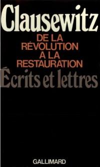 De la révolution à la restauration
