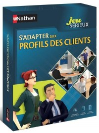 Coffret Jeu Serieux S'Adapter aux Profils des Clients Bac Pro/Bts 5 Cdroms + 1 Livret Accompagnement