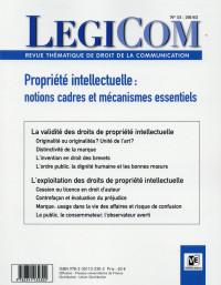 Legicom N°53 Les droits de propriété intellectuelle à l'épreuve de l'interprétation du juge