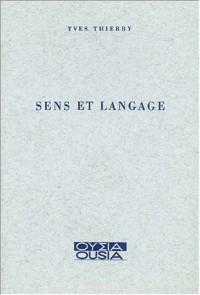 Sens et langage