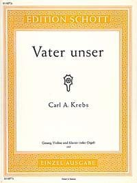 Vater unser - basse voix, violon et piano - ED0 1187