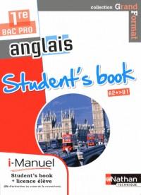 Student'S Book  1e Bac Pro  A2+>B1 (Grand Format ) Licence Numerique  I-Manuel+Ouvr Papier  - 2013