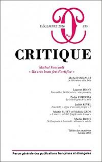Critique N° 835