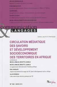 Communications & Langages 163 - Circulation Mediatique des Savoirs en Afrique