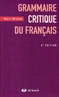 Grammaire critique du français