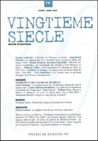 Vingtieme siecle n.78  avril-juin 2003