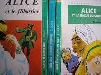caroline quine - lot 5 livres collection alice : alice et les plumes de paon - alice chez le grand couturier - alice et le carnet vert - alice et la bague du gourou - alice et le flibustier